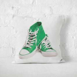 Poduszka - PAIR OF GREEN CONVERSE